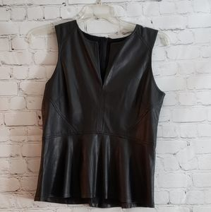 Sanctuary Vegan Leather Top Sz Large. NWT